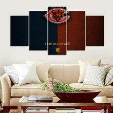 Load image into Gallery viewer, Chicago Bears Leather Look Canvas