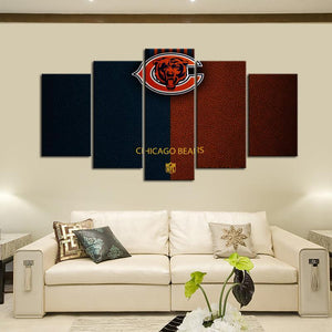 Chicago Bears Leather Look Canvas