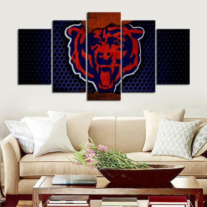 Chicago Bears Steel Look Canvas