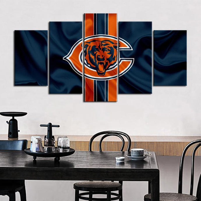 Chicago Bears Fabric Look Canvas