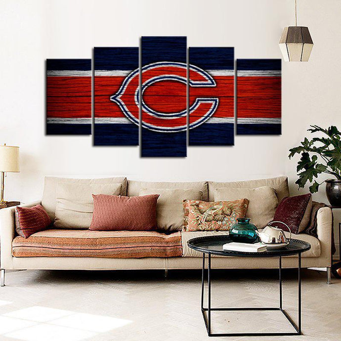 Chicago Bears Wooden Style Canvas