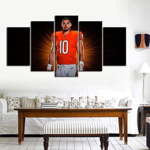 Mitch Trubisky Chicago Bears Canvas
