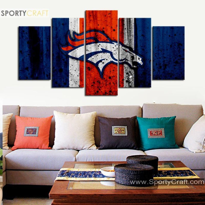 Denver Broncos Rough Look Canvas