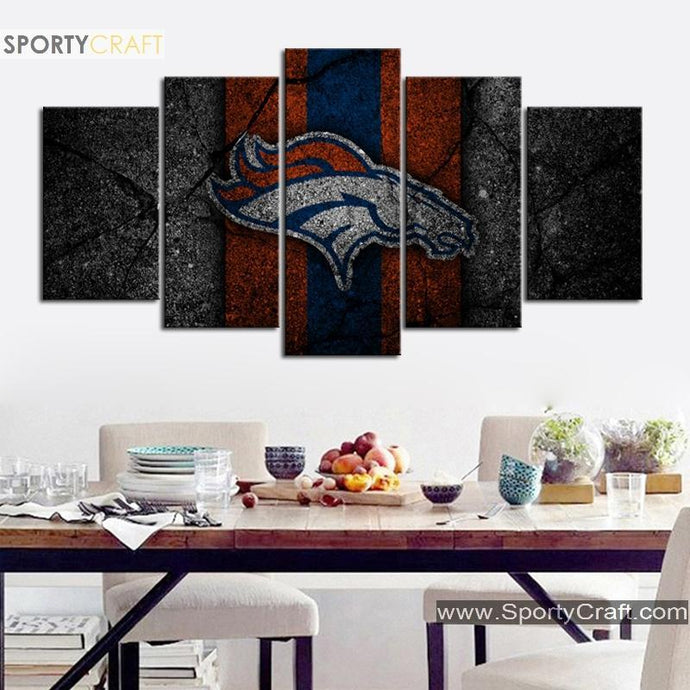 Denver Broncos Rock Style Canvas