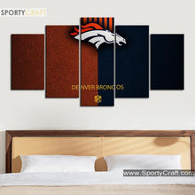 Load image into Gallery viewer, Denver Broncos Leather Style Canvas