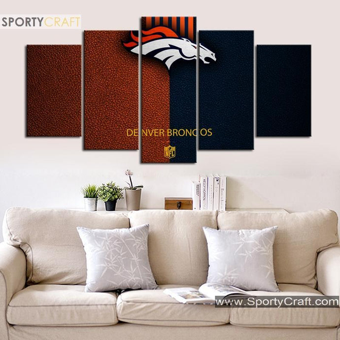 Denver Broncos Leather Style Canvas