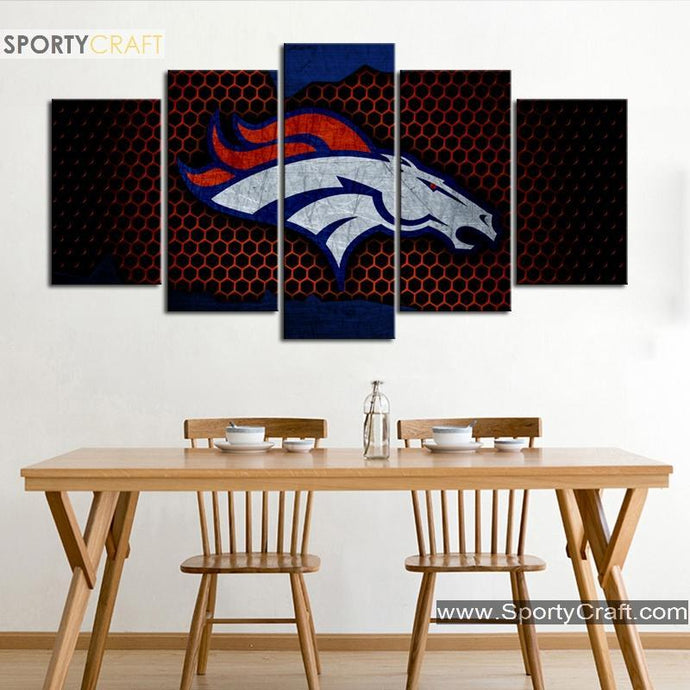 Denver Broncos Steal Look Canvas