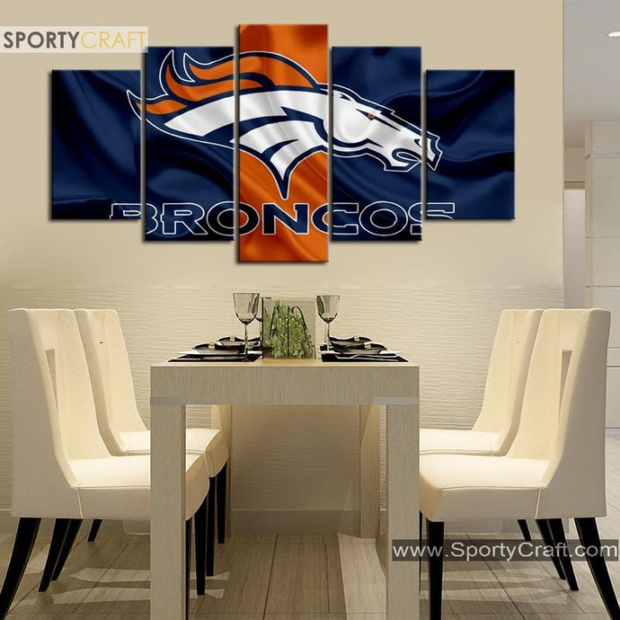 Denver Broncos Fabric Style Canvas