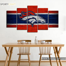 Load image into Gallery viewer, Denver Broncos Wooden Style Canvas