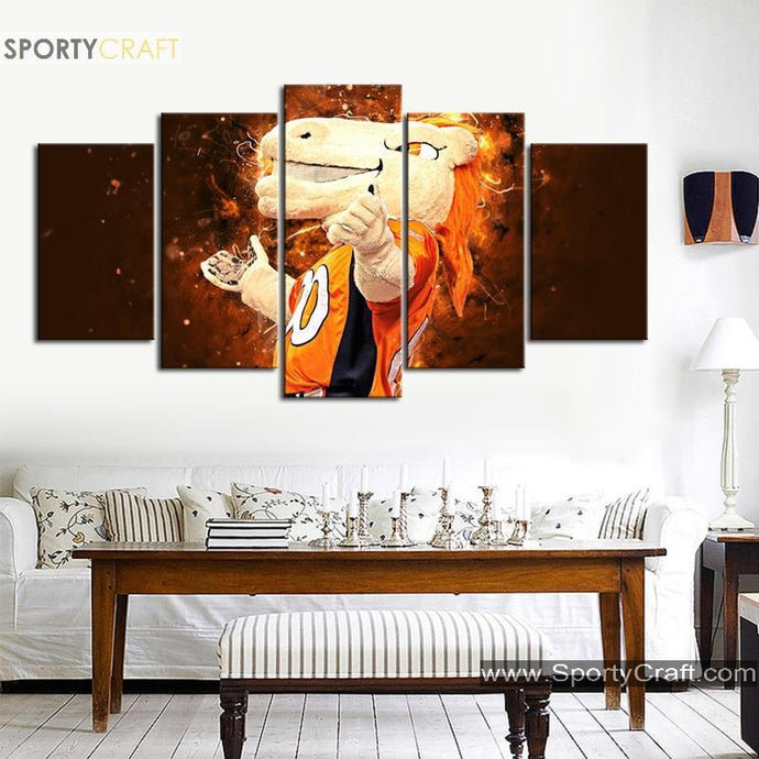 Denver Broncos Wall Art Canvas