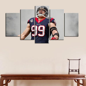 J. J. Watt Houston Texans Canvas