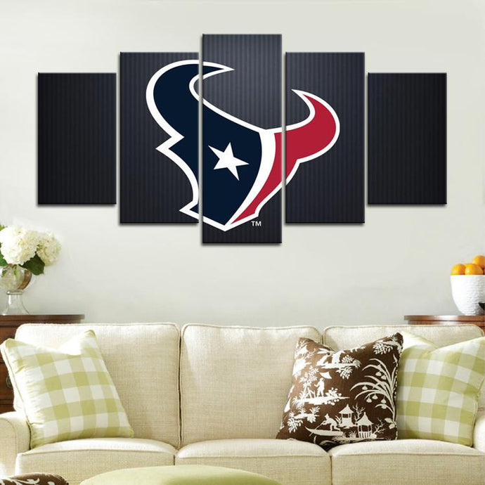 Houston Texans Simple Sign Canvas