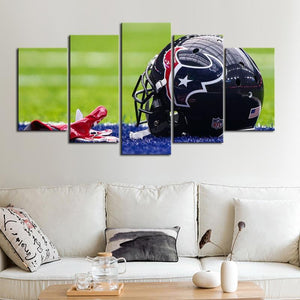 Houston Texans Helmet Canvas