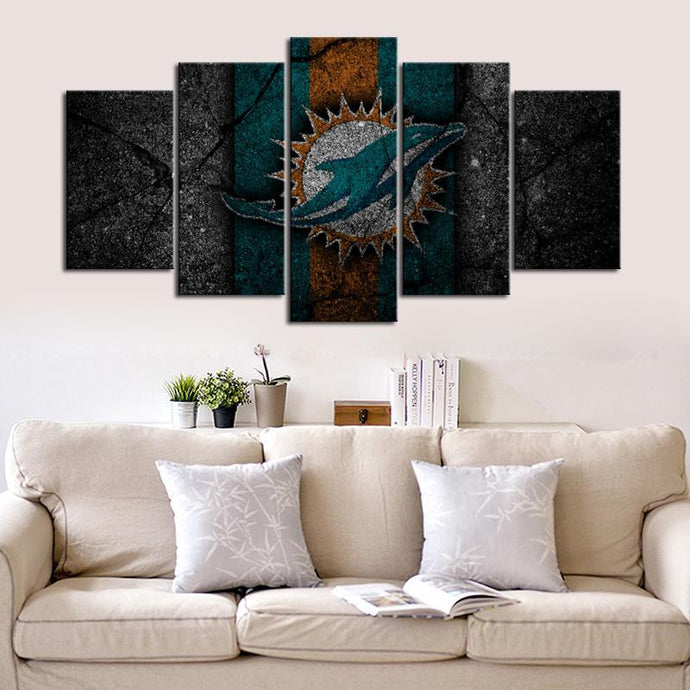 Miami Dolphins Rock Look Canvas