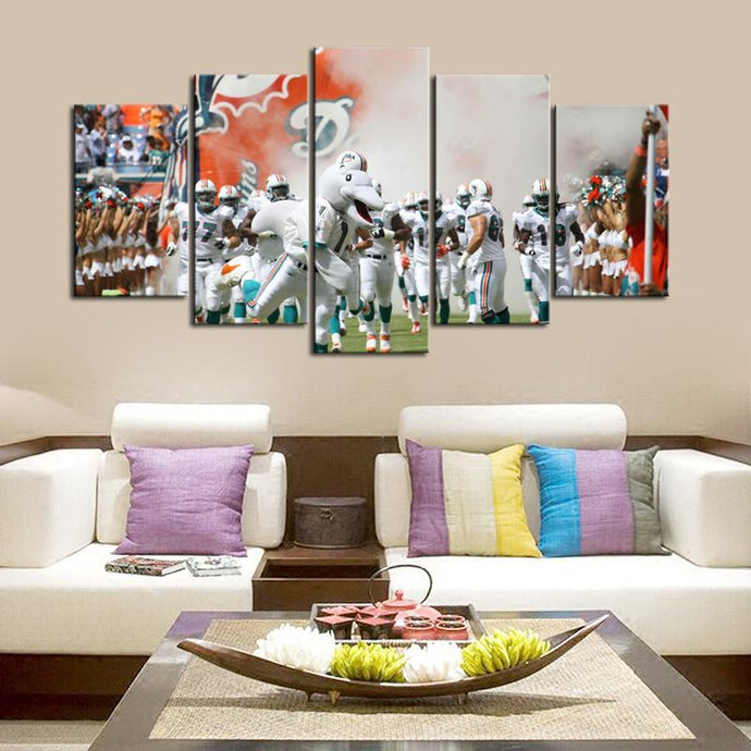 Miami Dolphins Rocking Team Canvas