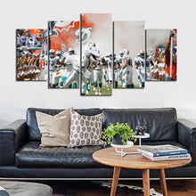 Load image into Gallery viewer, Miami Dolphins Rocking Team Canvas