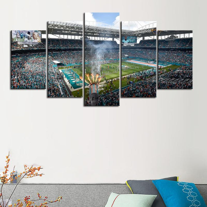 Miami Dolphins Hard Rock Stadium Canvas