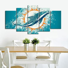 Load image into Gallery viewer, Miami Dolphins Paint Style Canvas