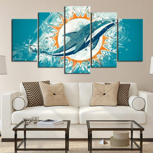Miami Dolphins Paint Style Canvas