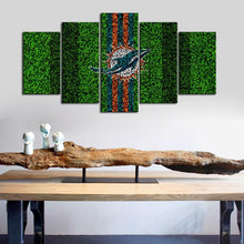 Load image into Gallery viewer, Miami Dolphins Grassy Look Canvas
