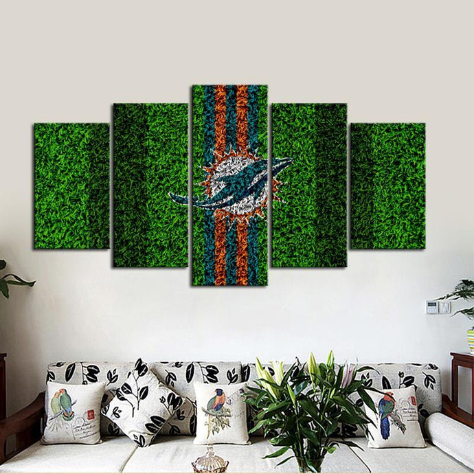 Miami Dolphins Grassy Look Canvas