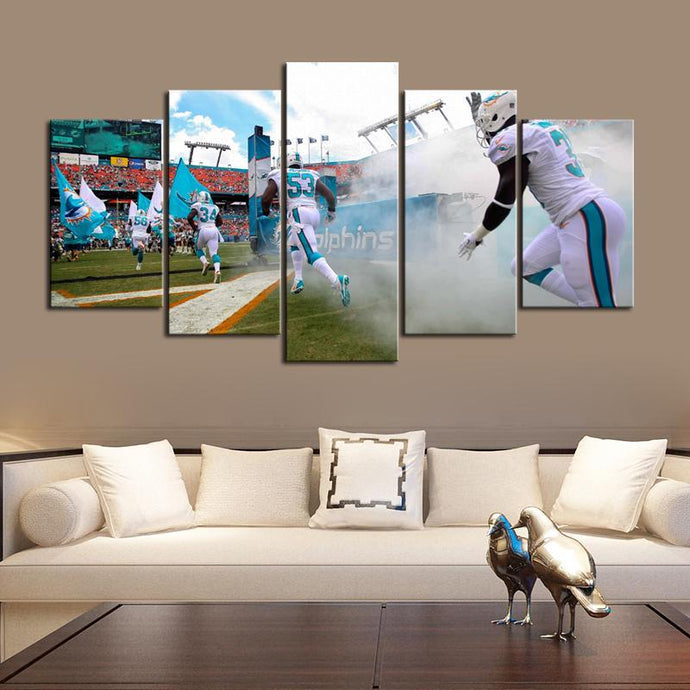 Miami Dolphins Style Canvas