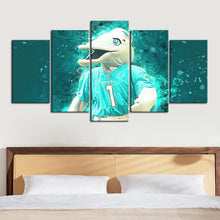 Load image into Gallery viewer, Miami Dolphins Number 1 Canvas