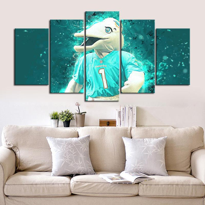 Miami Dolphins Number 1 Canvas