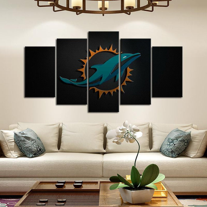 Miami Dolphins Sleek Style Canvas