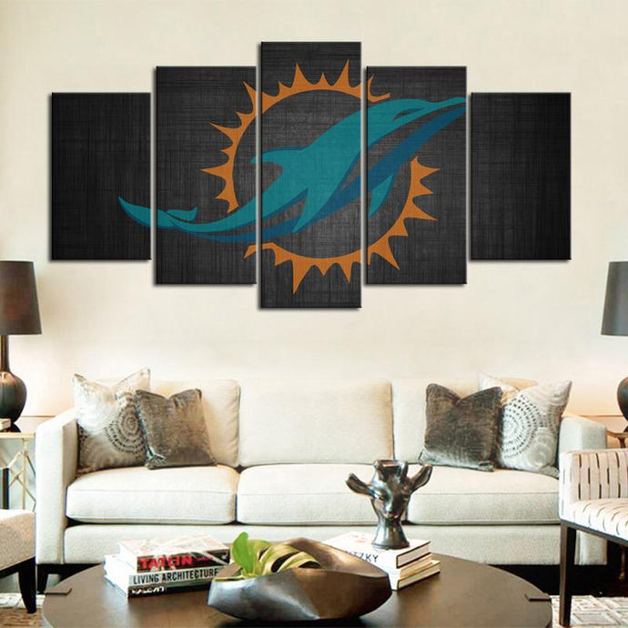 Miami Dolphins Greyish Look Canvas