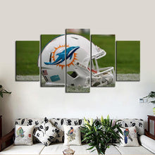 Load image into Gallery viewer, Miami Dolphins Helmet Look Canvas