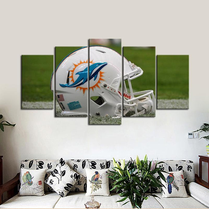 Miami Dolphins Helmet Look Canvas