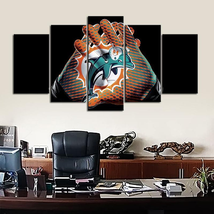 Miami Dolphins Gloves Look Canvas