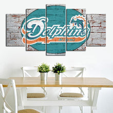 Load image into Gallery viewer, Miami Dolphins Rough Wall Canvas