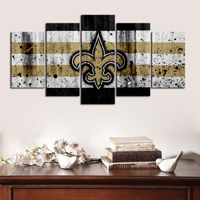 New Orleans Saints Rough Look Canvas