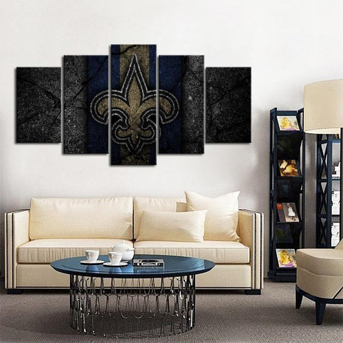 New Orleans Saints Rock Style Canvas