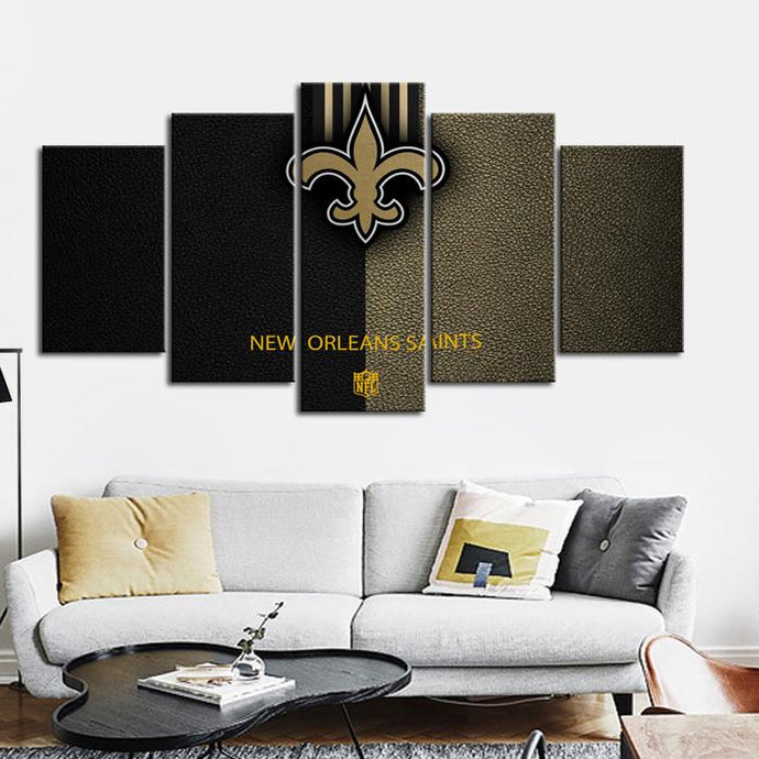 New Orleans Saints Leather Look Canvas