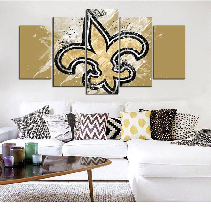 New Orleans Saints Paint Splash Canvas