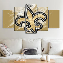 Load image into Gallery viewer, New Orleans Saints Paint Splash Canvas