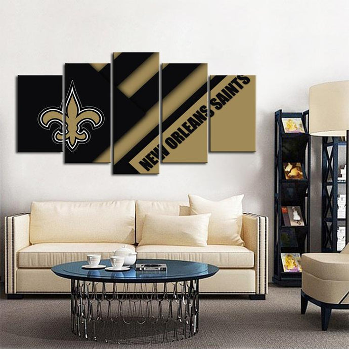 New Orleans Saints Cut Design Canvas