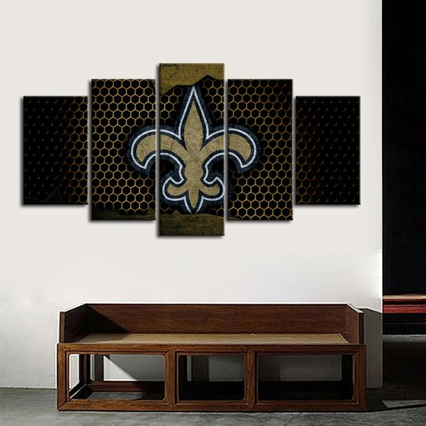 New Orleans Saints Steel Style Canvas