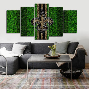New Orleans Saints Grassy Look Canvas