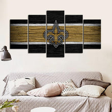 Load image into Gallery viewer, New Orleans Saints Wooden Style Canvas