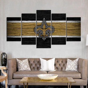 New Orleans Saints Wooden Style Canvas