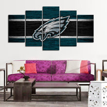 Load image into Gallery viewer, Philadelphia Eagles Wooden Look Canvas