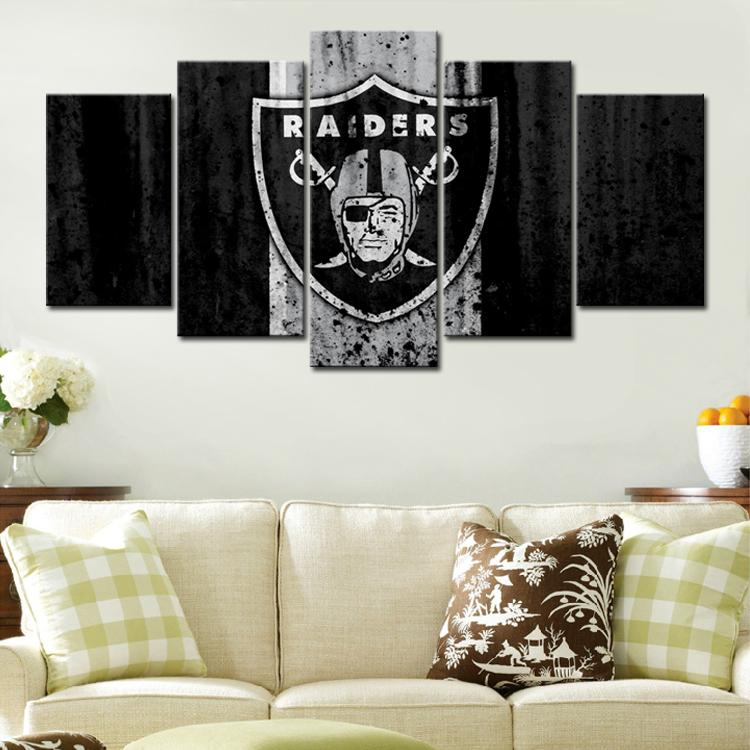 Las Vegas Raiders Rough Look Canvas