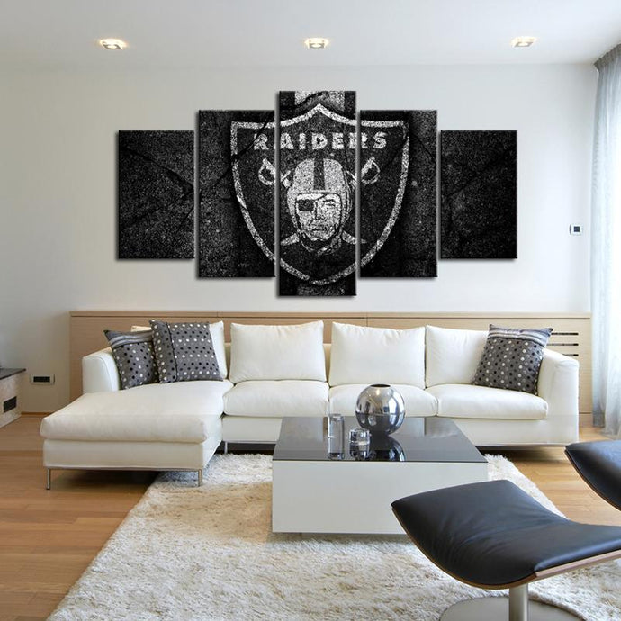 Oakland Raiders Rock Style Canvas