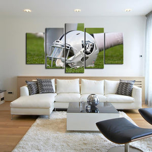 Las Vegas Raiders Helmet Look Canvas