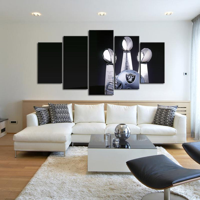 Oakland Raiders Three Won Canvas