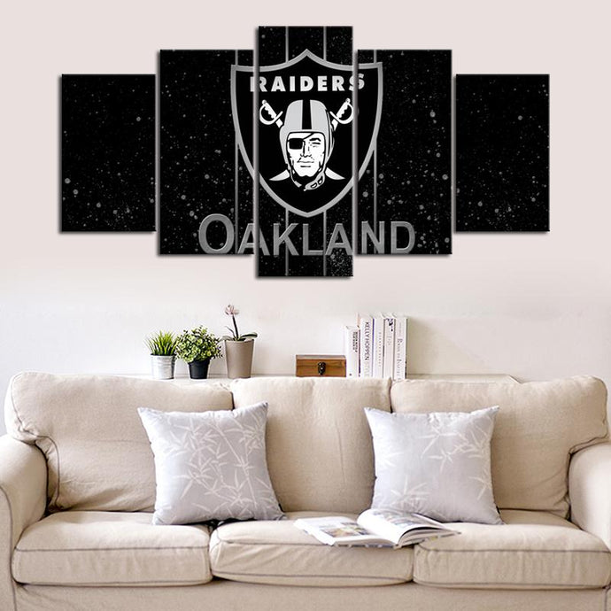 Oakland Raiders Dark Canvas